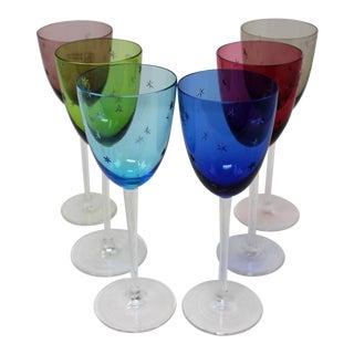 Murano Glass Wine or Aperitif Stemware - Set of 6 For Sale