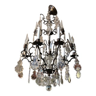 Large Vintage Marie Therese Multi Tier Chandelier For Sale