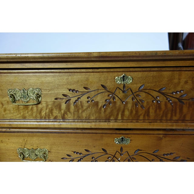 Wooden Dresser With Floral Inlay - Image 2 of 5