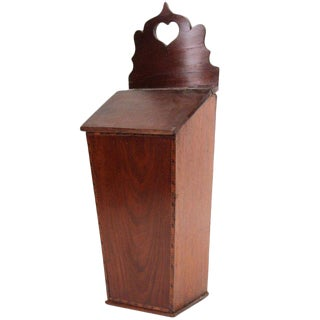 American Inlaid Mahogany Candle Box, 19th Century For Sale