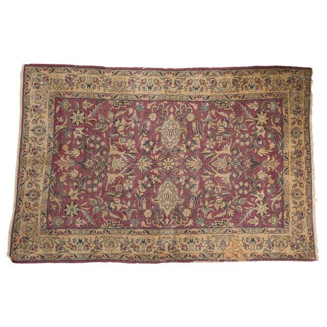 "Vintage Lilihan Carpet - 6'2"" X 9'6"" For Sale"
