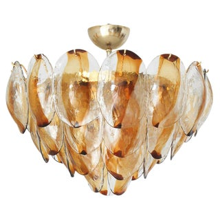 Vintage La Murrina Italian Murano Glass Shells Chandelier For Sale