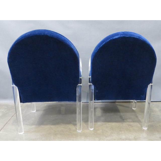 Pace Collection Pair of Pace Collection Lucite Waterfall Dining or Side Chairs Circa 1980 For Sale - Image 4 of 12