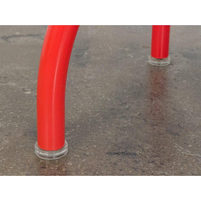 Glass 1980s Ettore Sottsass Red Spyder Dining Table For Sale - Image 7 of 8