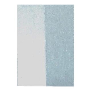 Blue Striped Mohair Velvet Swatch For Sale