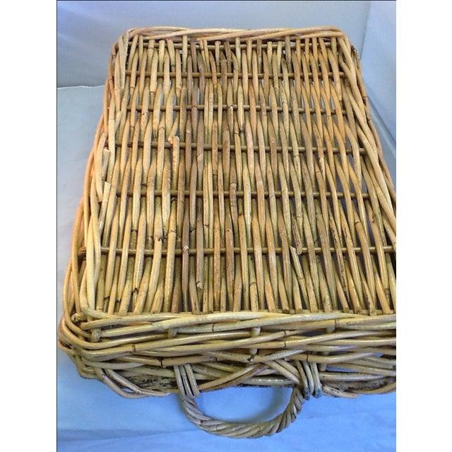 Vintage Decorative Rattan Tray - Image 7 of 8
