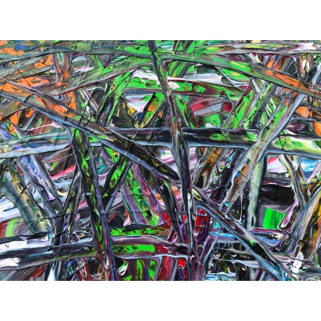 """Acrylic Painting by Artist Troy Smith - 79"""" X 79"""" - Contemporary Art - Abstraction For Sale - Image 9 of 13"""