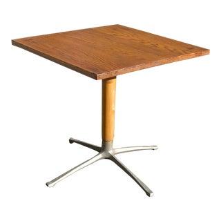 1970s Mid-Century Modern Oak Top Pub Table For Sale
