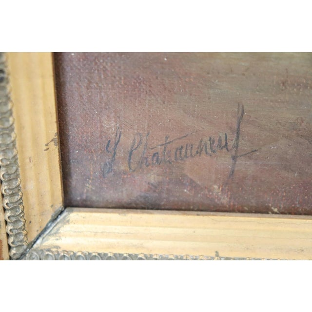 20th Century French Oil Painting on Canvas Signed Marine Subject With People For Sale - Image 6 of 10