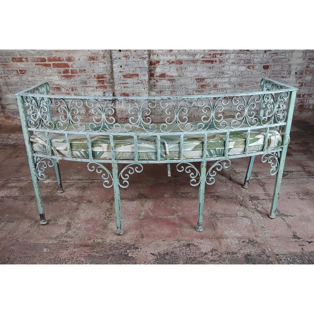 1910s Art Nouveau Antique Cast Iron Patio & Garden Settee & 2 Chairs Set For Sale - Image 5 of 10