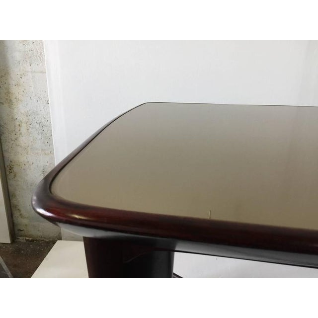 Paolo Buffa Reverse Painted Top and Walnut Italian Dining Table - Image 7 of 8