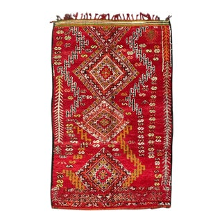 1970s Moroccan Berber Rug-5′10″ × 9′2″ For Sale