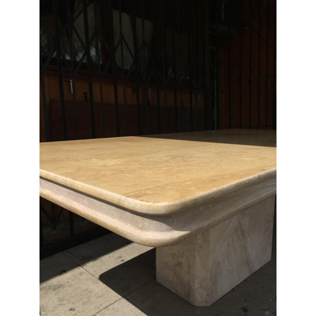 Tan 1960s Italian Travertine Dining Table For Sale - Image 8 of 13