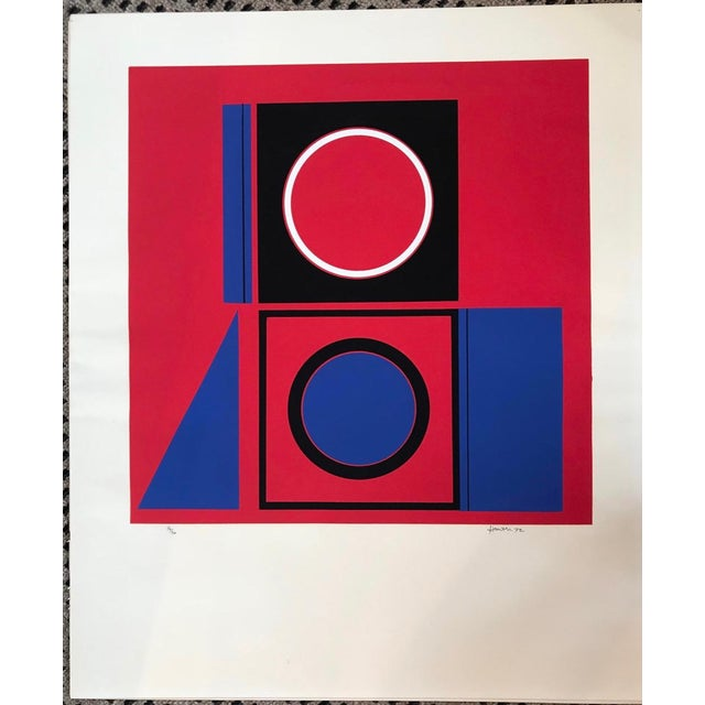 1970s Mid-Century Modern Robert Hunter Serigraph 1972 For Sale - Image 5 of 6