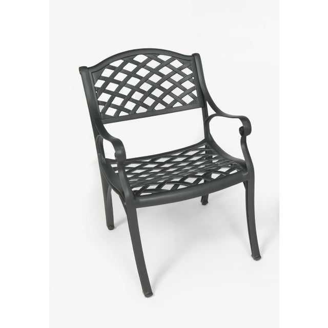 American Crossweave Outdoor Chair in Black For Sale - Image 3 of 3