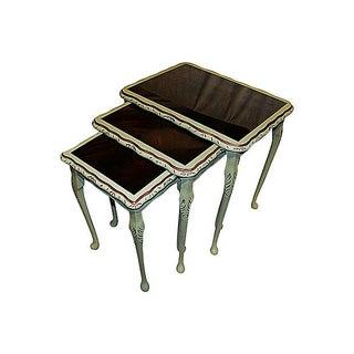 Painted Nesting Tables - Set of 3 For Sale