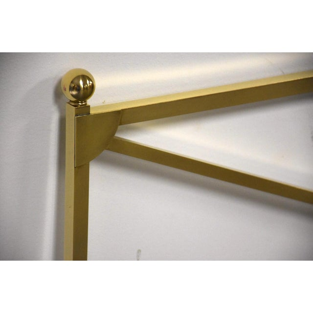 Baker Furniture Company Solid Brass King Headboard by Baker Mid-Century Modern For Sale - Image 4 of 8