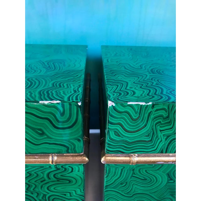 Faux Malachite Boxes - a Pair For Sale - Image 11 of 11