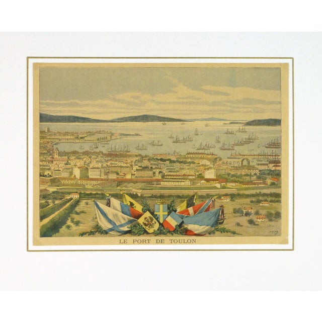 Antique Toulon, France Engraving French, 1890 - Image 3 of 3