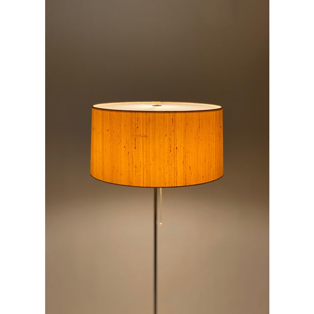 Bergboms Model G-025 Brass Floor Lamp With Silk Shade For Sale - Image 10 of 12