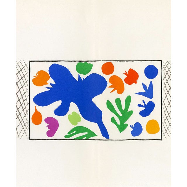 This is an original lithograph of a watercolor by Henri Matisse for French modernist art magazine Verve, Vol. 35/36...