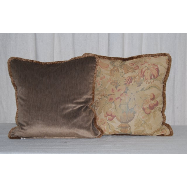 Vintage Bennison Fabric Pillows - Set of 3 - Image 4 of 4