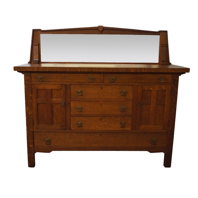 Period Arts & Crafts Mission Oak Sideboard - Image 1 of 10