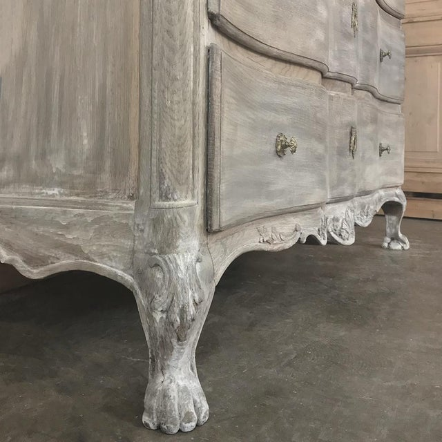 18th Century Country French Whitewashed Oak Commode For Sale - Image 10 of 13