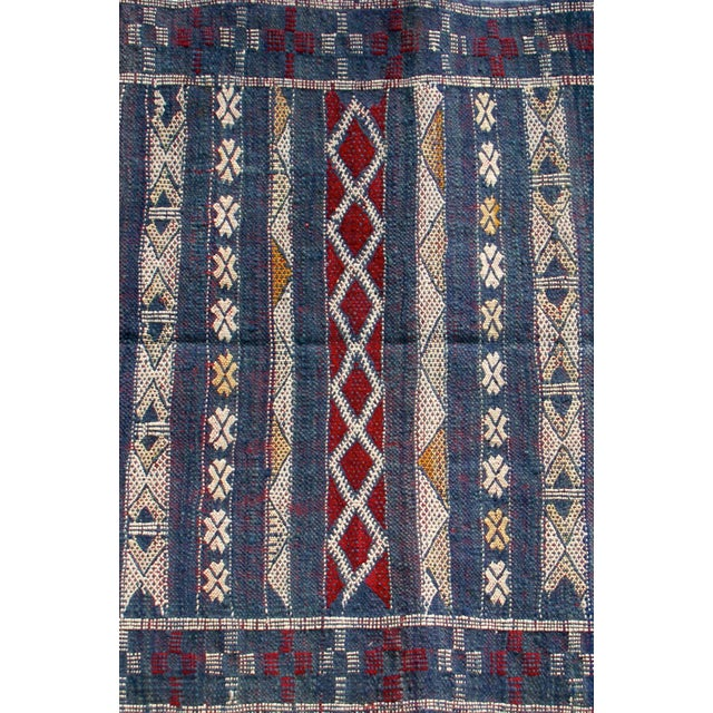"Moroccan Berber Tribal Kilim Rug - 2' 7"" x 4' 2"" - Image 5 of 6"