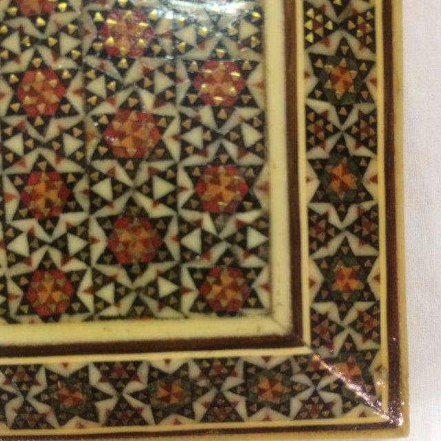 Persian Wood Inlay Box - Image 9 of 10