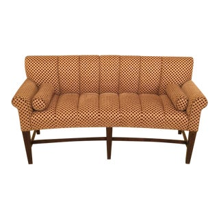 Modern Curved Decorator Settee For Sale