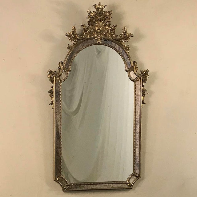 Mid-Century Italian Venetian Gilded Mirror For Sale - Image 13 of 13