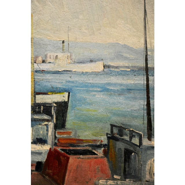 1930s John Earle Coolidge - Boats at the La Harbor 1935 - Oil Painting For Sale - Image 5 of 9
