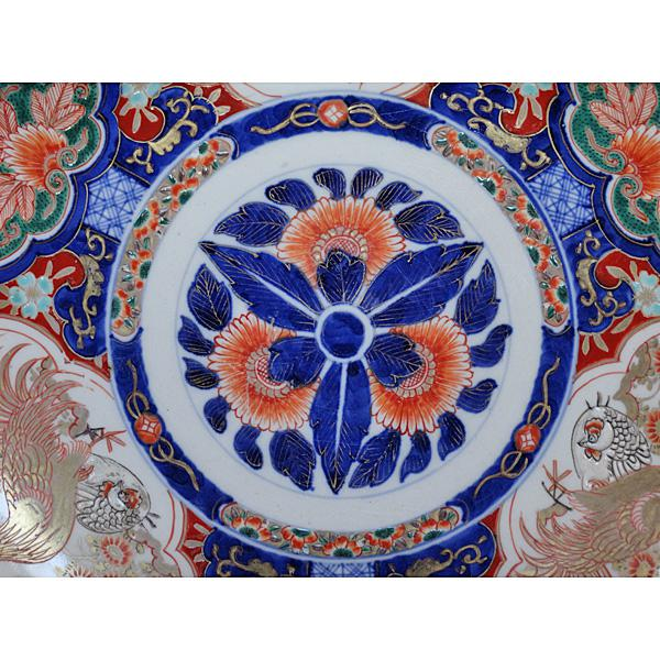 Asian Late 19th Century Vintage Japanese Meiji Period Imari Porcelain Charger For Sale - Image 3 of 5