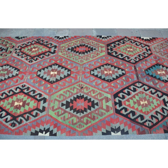Turkish Vintage Kilim Rug - 4′11″ × 9′4″ - Image 4 of 6