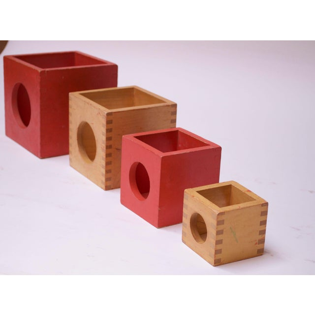 Set of Four Vintage Nesting Cubes by Creative Playthings of Finland For Sale In New York - Image 6 of 13