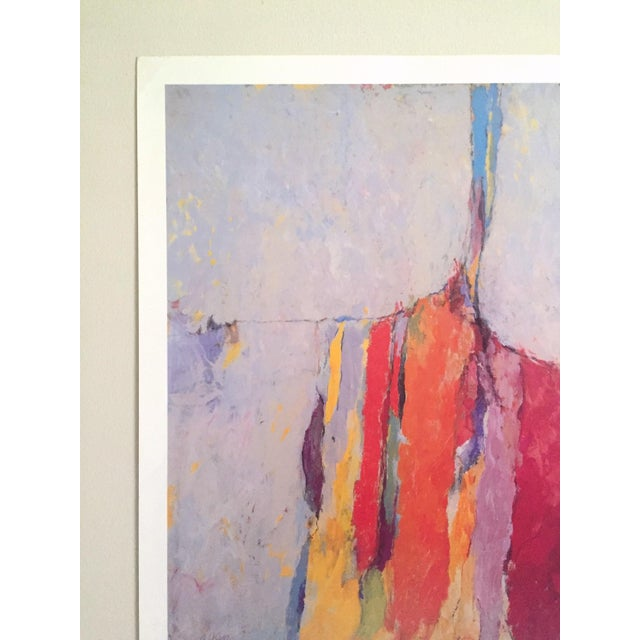 1980s Arthur Osver Vintage 1985 Abstract Expressionist Lithograph Print St. Louis Arts Festival Exhibition Poster For Sale - Image 5 of 13