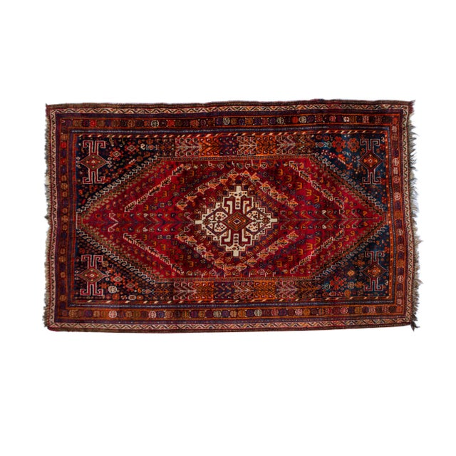 "Vintage Persian Shiraz Rug Aram - 5'1""x8'6"" - Image 1 of 5"