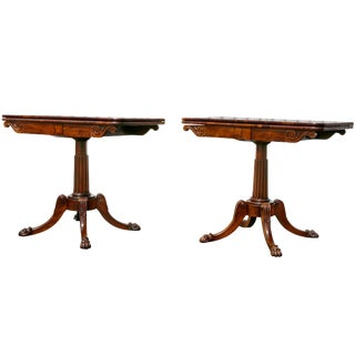 Pair of Regency Rosewood Games Tables For Sale