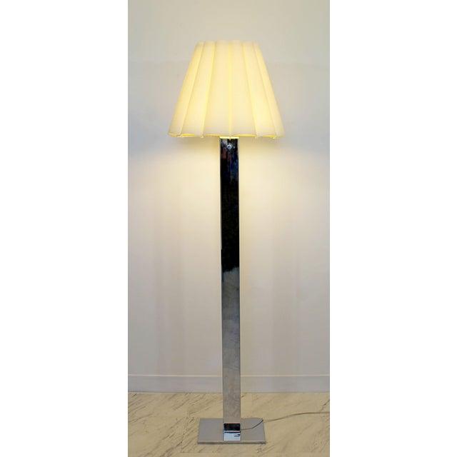 Robert Sonneman Mid Century Modern Robert Sonneman Polished Chrome Steel Standing Floor Lamp For Sale - Image 4 of 10