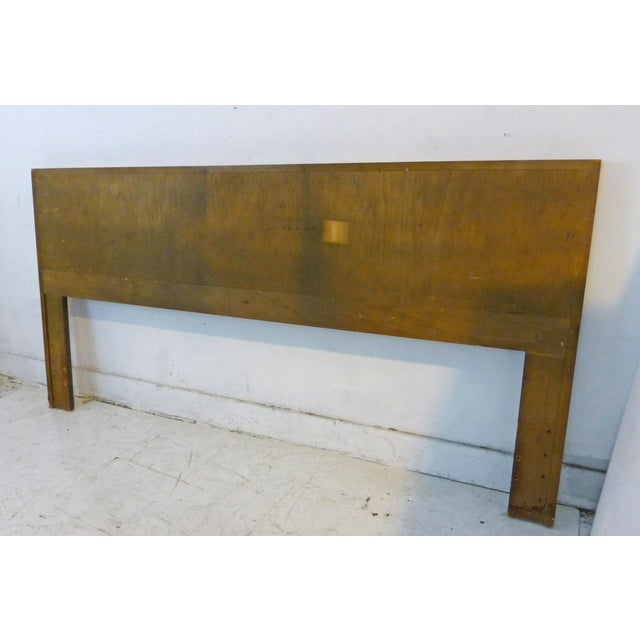 Vintage Lane King Size Ribbed Walnut and Rosewood Headboard Hard to Find - Image 6 of 10