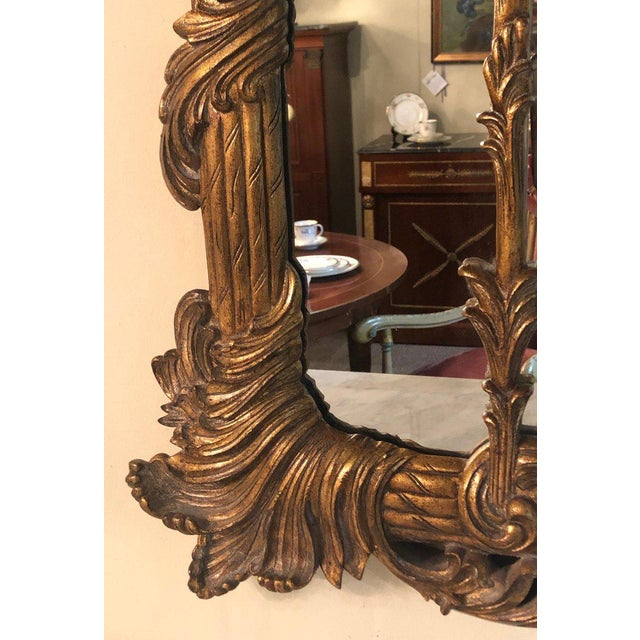 Gold La Barge Italian Style Foliate Giltwood Wall, Console or Over the Mantle Mirror For Sale - Image 8 of 13