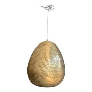 Leaf-Patterned Tahrir Brass Pendant For Sale