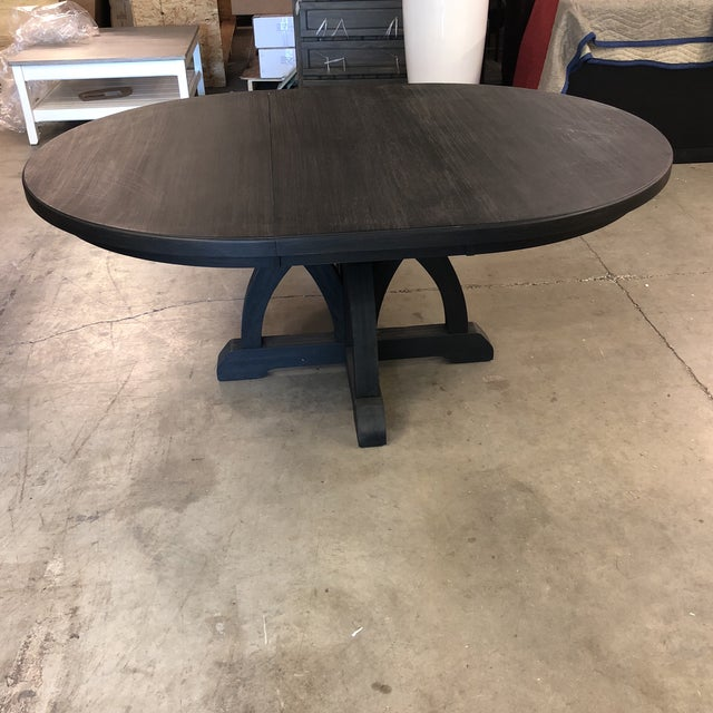 Hooker Hooker Corsica Dining Black Wooden Dining Table For Sale - Image 4 of 10