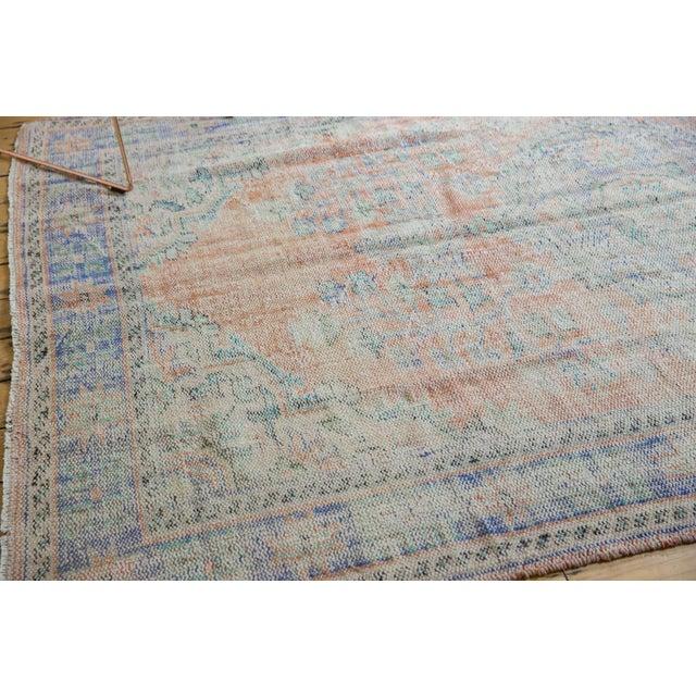 "Textile Vintage Distressed Oushak Carpet - 6'2"" X 9'8"" For Sale - Image 7 of 13"