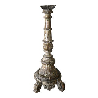 Late 19th Century Vintage Peruvian Spanish Colonial Alter Candlestick Holder For Sale