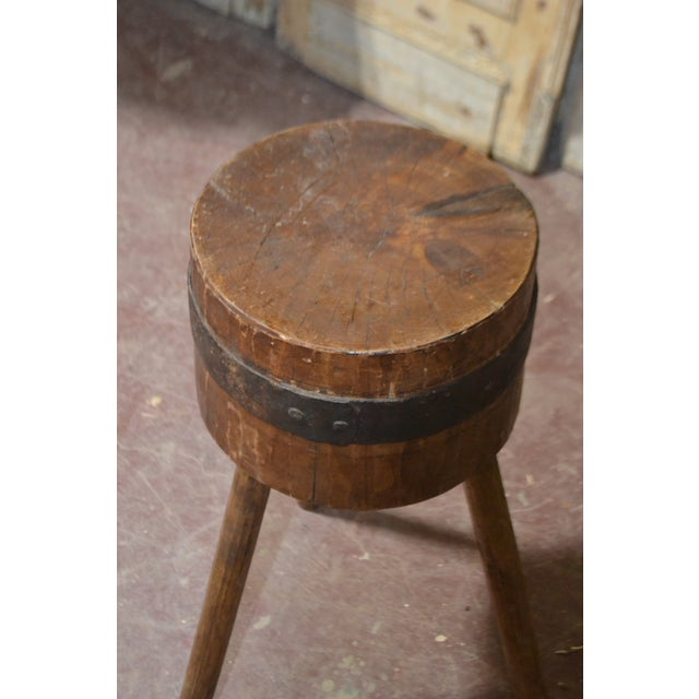 French butcher block, one piece natural color. Made in the 1900s.