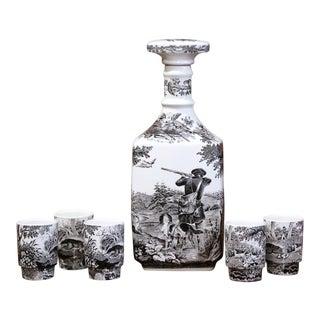 Mid-20th Century German Porcelain Painted Liquor Set from Villeroy & Boch