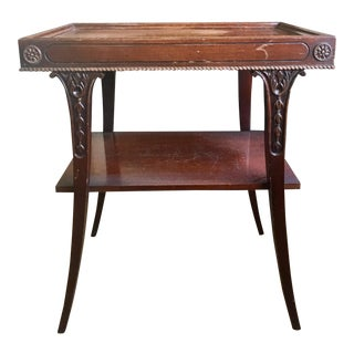 Two Tiered Wood Table