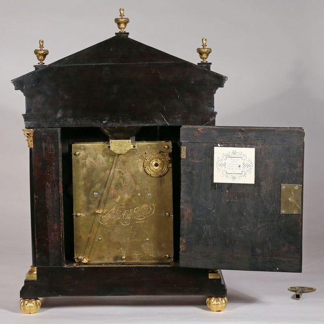 Edward East (1602-1697): Charles II Ebony Table Clock For Sale - Image 10 of 10